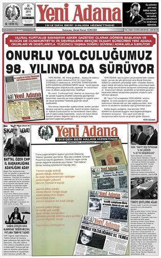 Yeni Adana Gazetesi 98 yıl