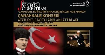 BBDSO: Çanakkale Şehitlerini Anma ve Deniz Zaferi'nin 101.Yılı Özel Konseri