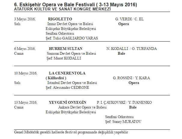 Eskişehir, opera bale prog.