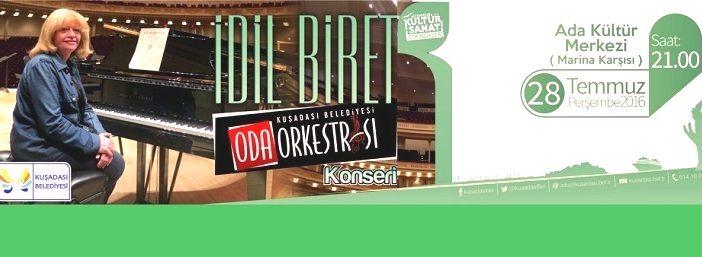 İdil Biret Kuşadası Belediye Orkestrası ile muhteşem konser verecek