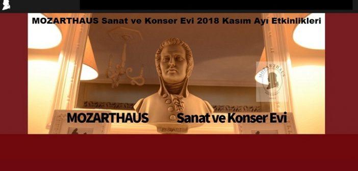 Mozarthaus Sanat ve Konser Evi 2018 Kasım ayı Etkinliği