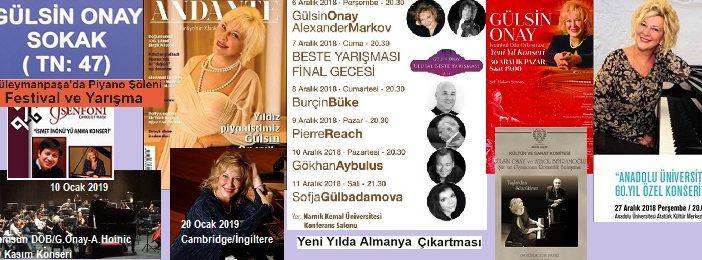 2018'e veda ederken… Gülsin Onay'ın programı Aralık ayında da yine dopdolu.