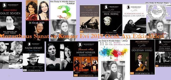 MOZARTHAUS Sanat ve Konser Evi 2019 Ocak Ayı Etkinlikleri