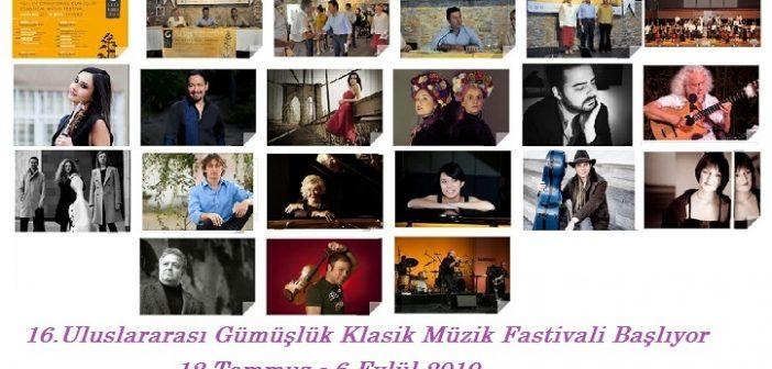 16. Uluslararası Gümüşlük Klasik Müzik Festivali (12 Temmuz – 6 Eylül 2019)
