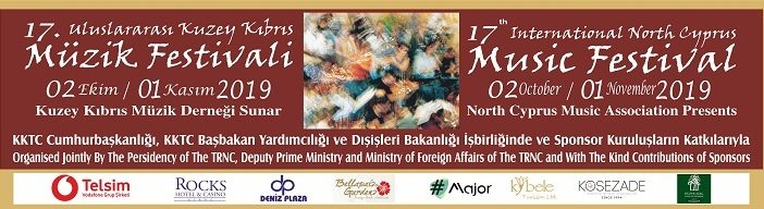 17.Uluslararası Kuzey Kıbrıs Müzik Festivali (2 Ekim 2019 -1 Kasım 2019)