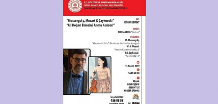 """ÇDSO: """"Ali Doğan Ekmekçi Anma Konseri"""" Mussorsgsky – Mozart – Çaykovski (15 Kasım 2019)"""
