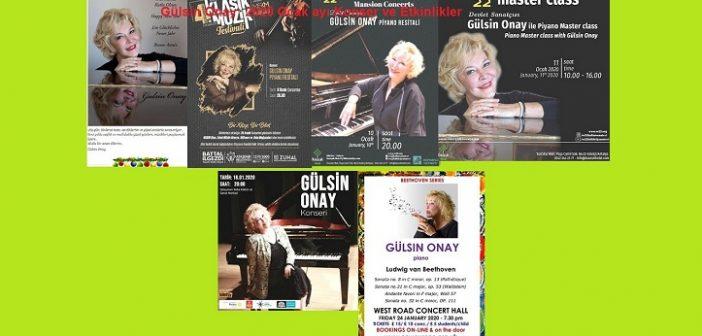 Gülsin Onay:  2020 Ocak ayı Konser ve Etkinlikler