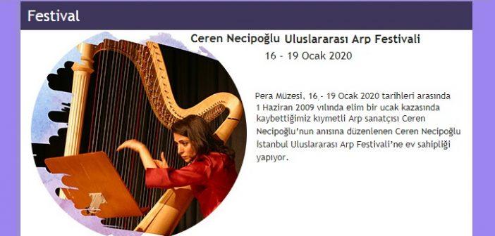 Ceren Necipoğlu Uluslararası Arp Festivali (16-19 Ocak 2020)