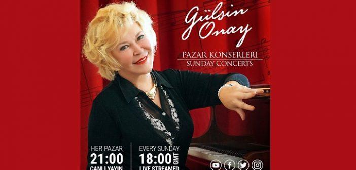 Gülsin Onay Mayıs ayı Pazar Konserleri